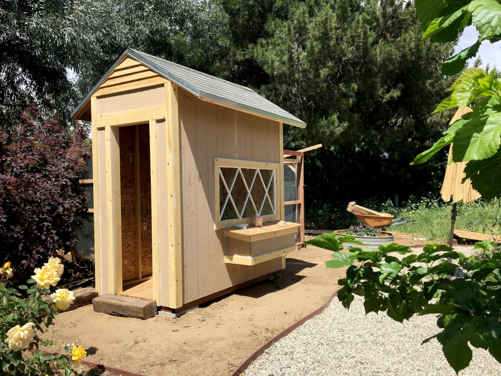 Chicken coop siding and roof